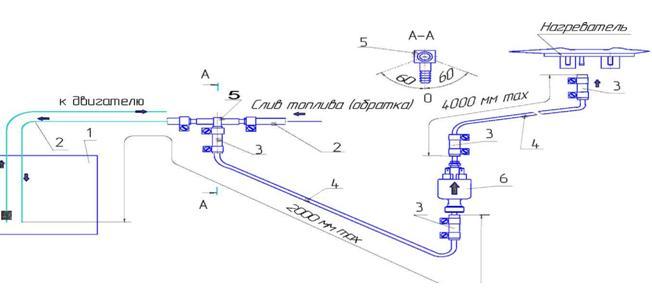 отопитель планар схема